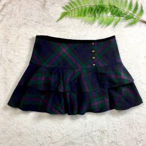 Ralph Lauren | Rugby | green plaid wool skirt 10